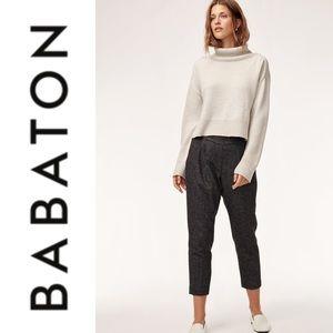 Babaton Cohen Wool Cropped Pants